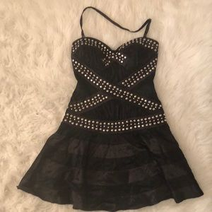 Bebe Black Studded Dress
